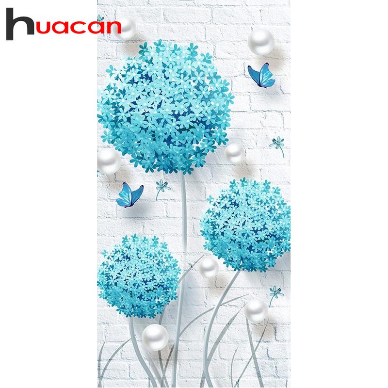 Huacan كامل مربع/مستديرة الماس الفسيفساء الهندباء 5D الماس طقم الطلاء المشهد شخصية هدية ديكور المنزل