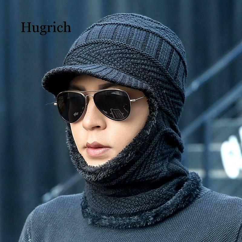 قبعة صوف محبوكة دافئة ، للرجال والنساء ، للحماية من البرد ، موضة شتوية جديدة