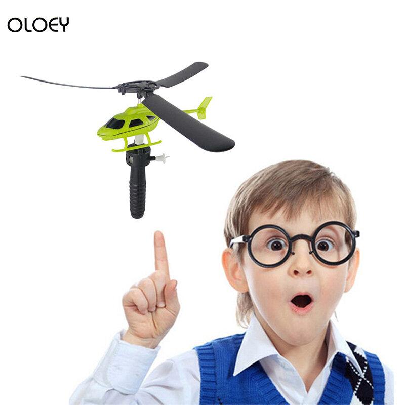 نماذج ألعاب علمية يمكن أن تطير الطيران سحب الأسلاك طائرات هليكوبتر الحرية الرباط طائرة اليد سحب الاطفال ألعاب تعليمية في الهواء الطلق