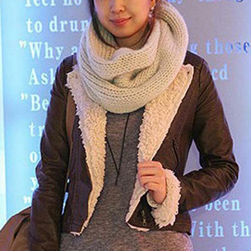 الشتاء الدافئة Scaf موضة النساء رشاقته غزل الصوف الفراء طوق الأوشحة الإناث أفخم محبوك القوس الرقبة أدفأ شال التفاف الإكسسوارات
