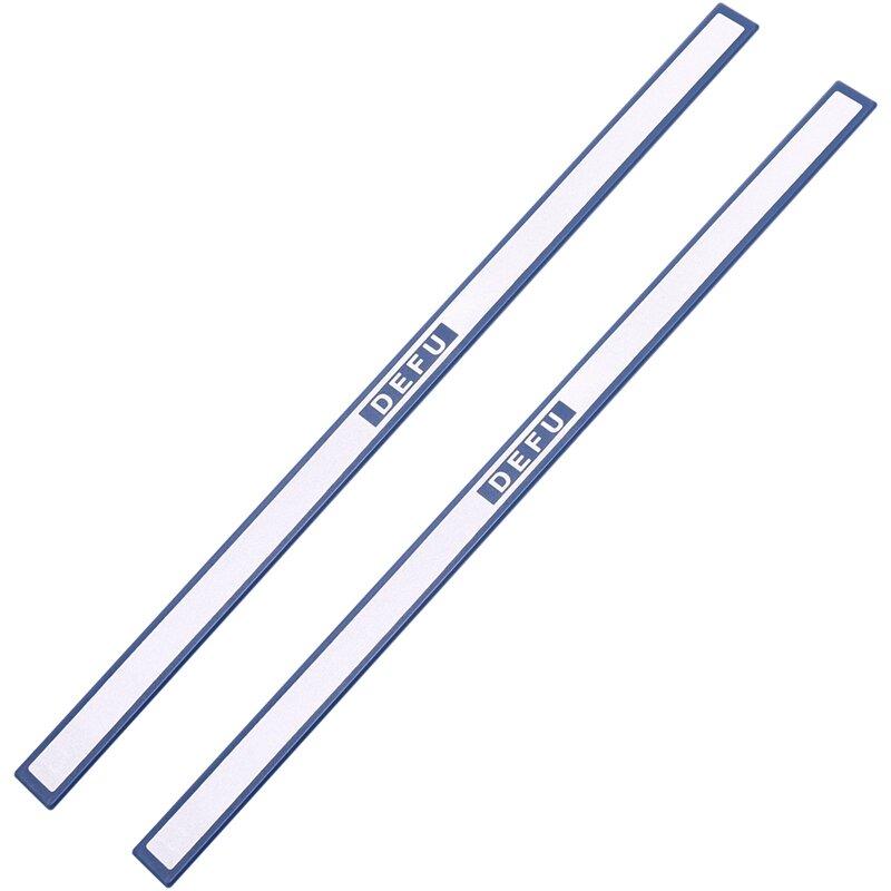 مكتب الأزرق البلاستيك الأبيض مجلس الشريط المغناطيسي القضبان 30 سنتيمتر طول 2 قطعة