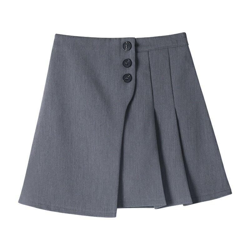 التنانير النسائية 2021 الخريف تنورة قصيرة صغيرة نصف تنورة الربيع والخريف المرأة عالية الخصر تنورة ألف خط دعوى مطوي تنورة