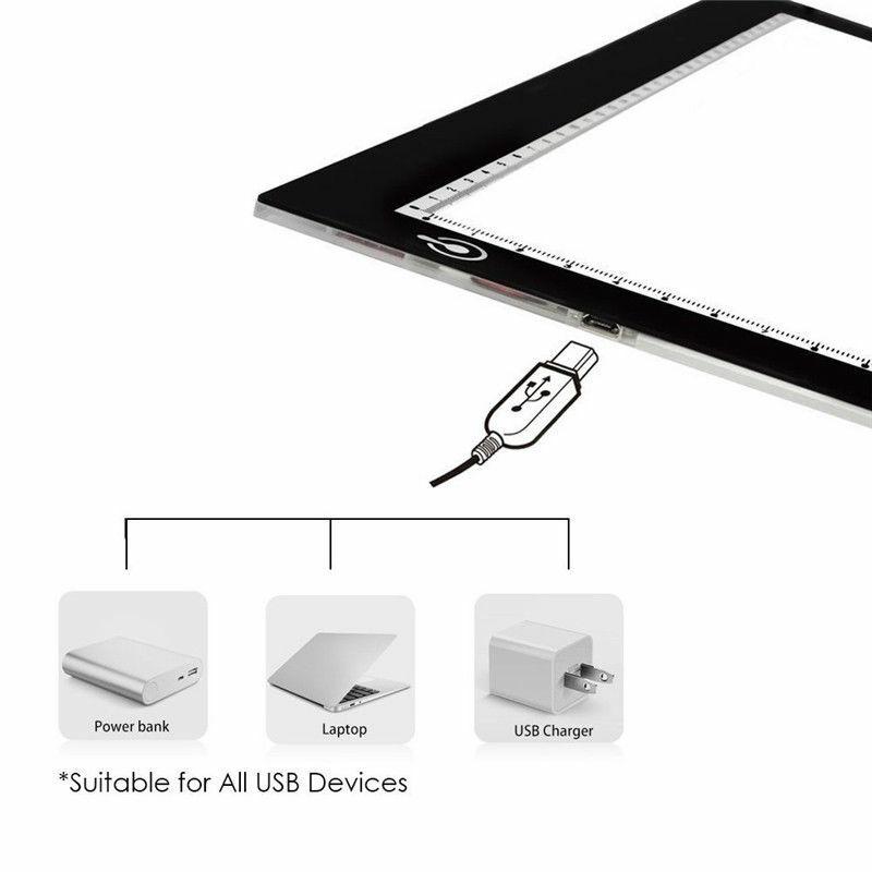 A4 USB LED الفن استنسل مجلس ضوء تتبع الرسم نسخة الوسادة صندوق الطاولة نسخة محطة لوح رسم رقمي