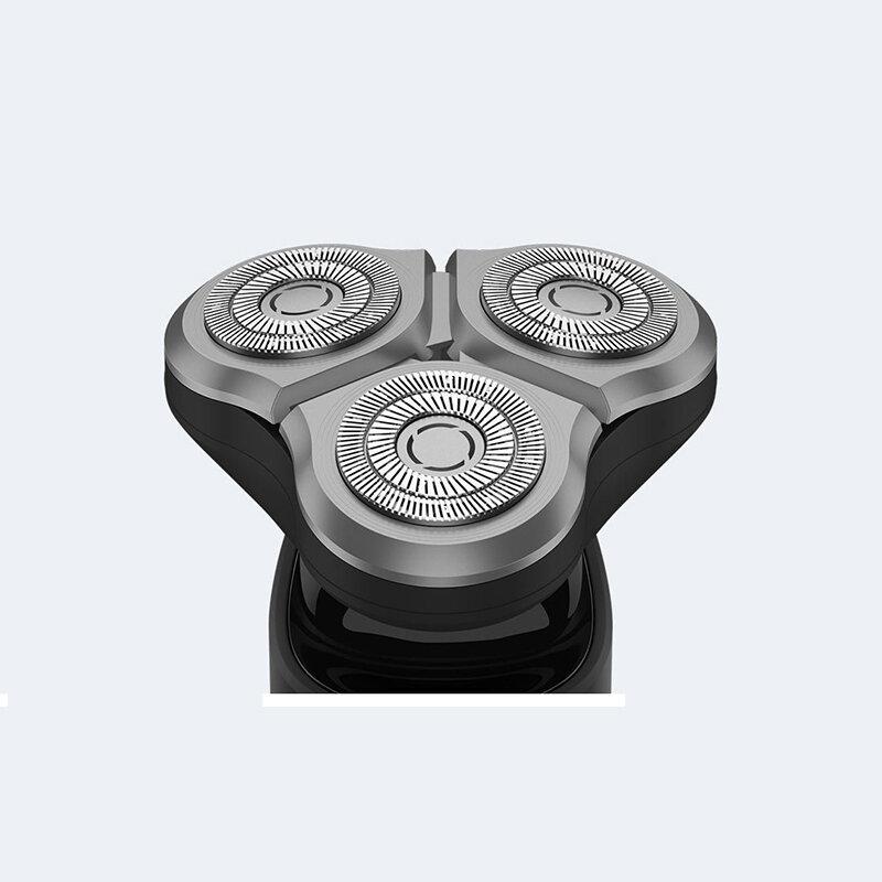 شاومي Mijia ماكينة حلاقة كهربائية S1 الحلاقة للرجال ماكينة حلاقة اللحية الجافة الرطب اللحية المتقلب قابل للغسل 3 رئيس شفرات مزدوجة الحلاقة