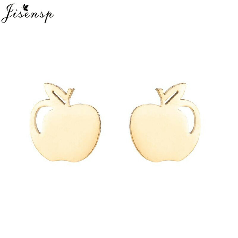 أقراط كورية جميلة من الفولاذ المقاوم للصدأ على شكل تفاحة فواكه فريدة من نوعها مجوهرات نسائية ثقب الأذن من الكرز هدايا الكريسماس