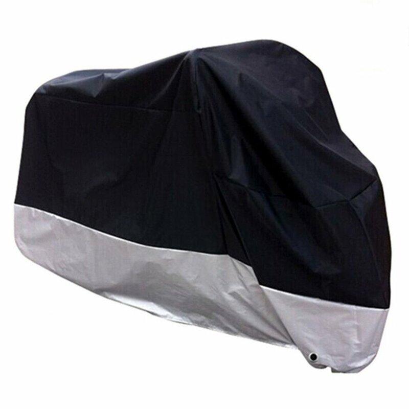 غطاء دراجة نارية العالمي في الهواء الطلق UV حامي سكوتر كل موسم مقاوم للماء دراجة المطر الغبار غطاء 3XL 4XL 190T ملحق
