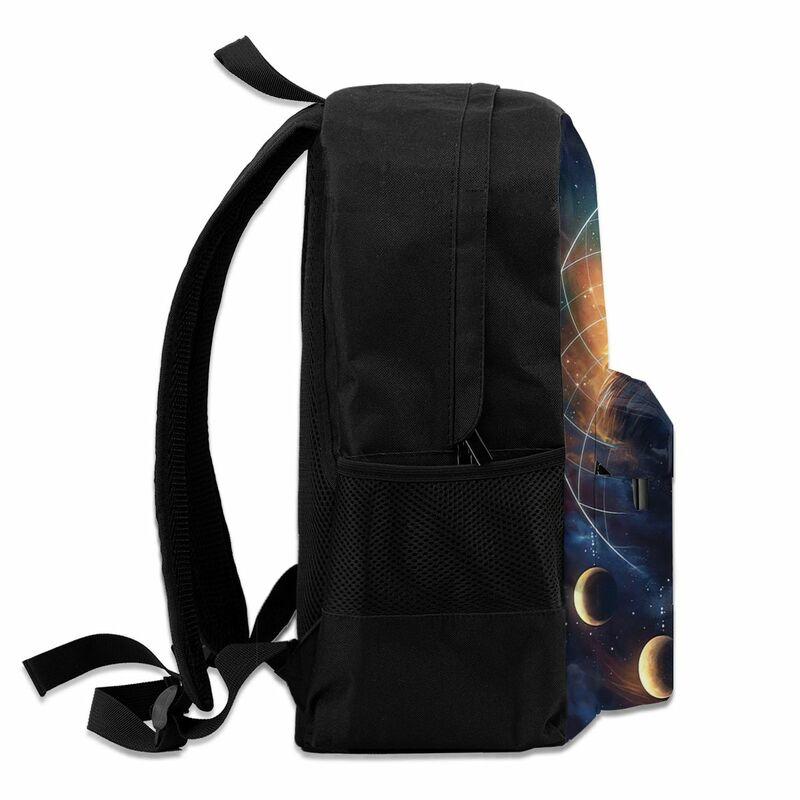 Ohmelody-حقيبة ظهر وولف ثلاثية الأبعاد للرجال والنساء ، حقيبة ظهر مدرسية مع مطبوعات حيوانات حية للأولاد والبنات ، للسفر
