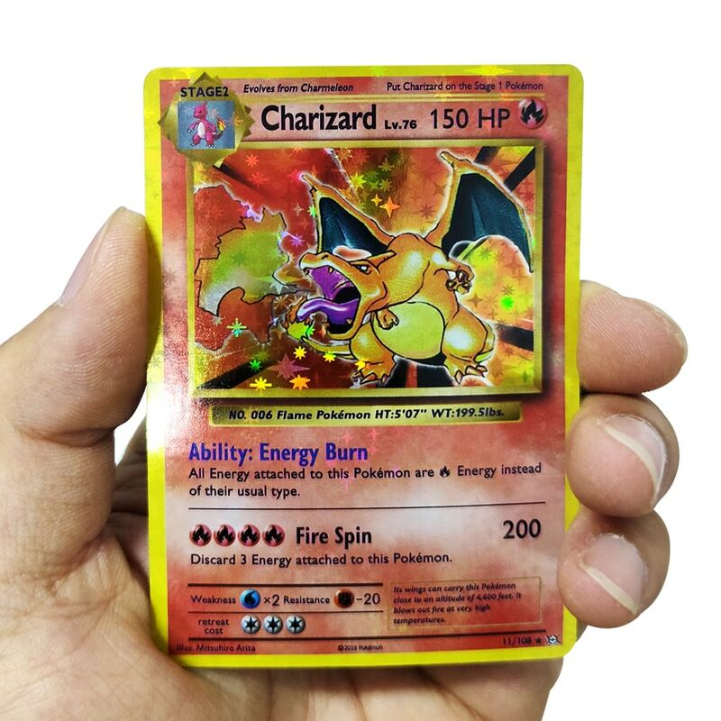 جديد 1996 سنوات 1st الطبعة لتقوم بها بنفسك GX Vmax بوكيمون بطاقات فلاش Charizard Ninetales Mewtwo Zapdos لعبة جمع بطاقات