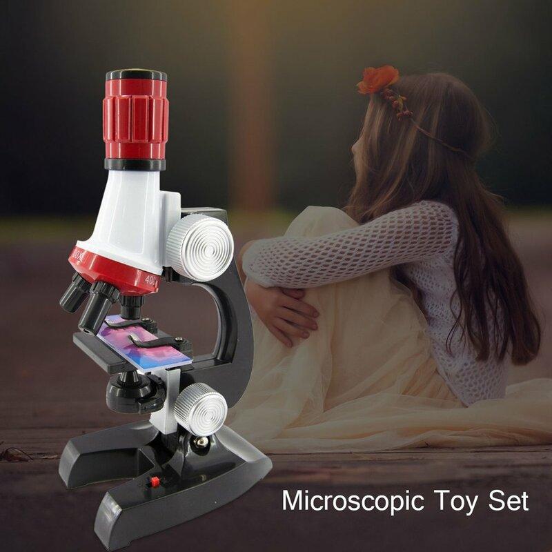 مجموعة ألعاب مجهر للأطفال ، تجربة علمية بيولوجية ، Hd ، 1200 مرة ، لعبة تعليمية وعلوم للأطفال