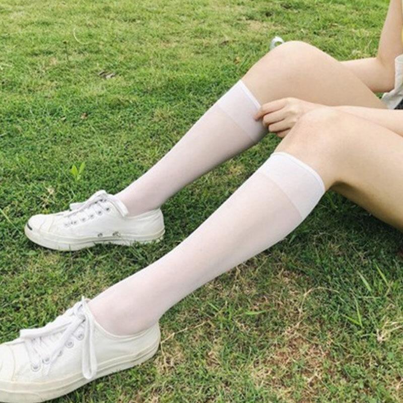 جوارب نسائية طويلة ، مثيرة ، عالية ، أسفل الركبة ، غير مرئية ، غير شفافة ، الفخذ ، زي الطالب الدافئ