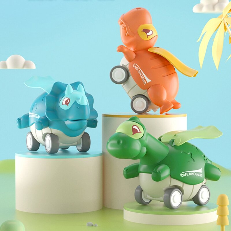 Push and Go Vehicles Pull Back Dinosaur Cars Toys Dinosaur Roadster Party Favors Games Dinoaur Random Color for Kids