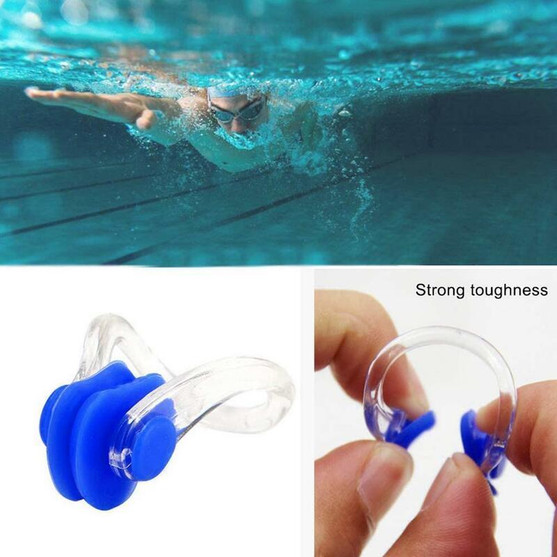 10 قطعة/المجموعة السباحة الأنف كليب قابلة لإعادة الاستخدام لينة ومريحة سيليكون مكافحة الاختناق كليب الغوص الأطفال تصفح للبالغين R8D6