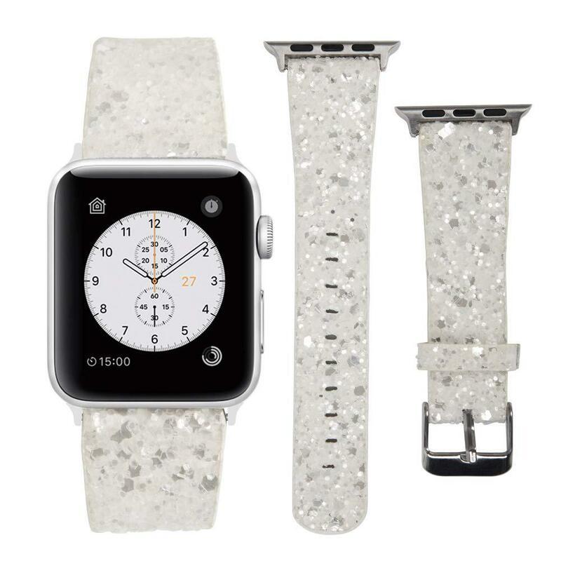 جلد حزام (استيك) ساعة ل أبل ووتش 40 مللي متر 38 مللي متر 42 مللي متر 44 مللي متر سوار ل Iwatch سلسلة 5 6 4 3 سوار يد وامض اكسسوارات