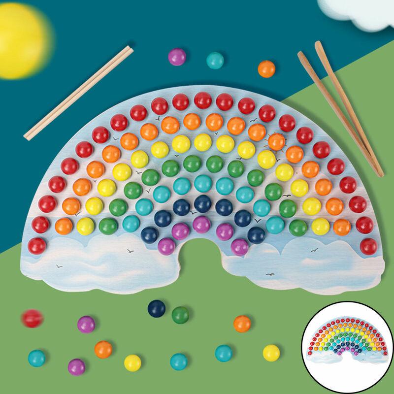 لعبة مونتيسوري خشبية ألعاب تعليمية كليب حبة لعبة طفل ما قبل المدرسة ألعاب تعلم ، التعليم المبكر ، ألعاب المجلس