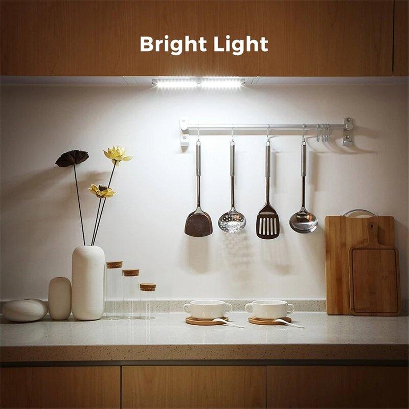 Foxcncar اللمس الاستشعار USB قابلة للشحن 22 LED تحت إضاءة الخزانة خزانة جدار ليلة ضوء المصباح بار المطبخ خزانة الإضاءة