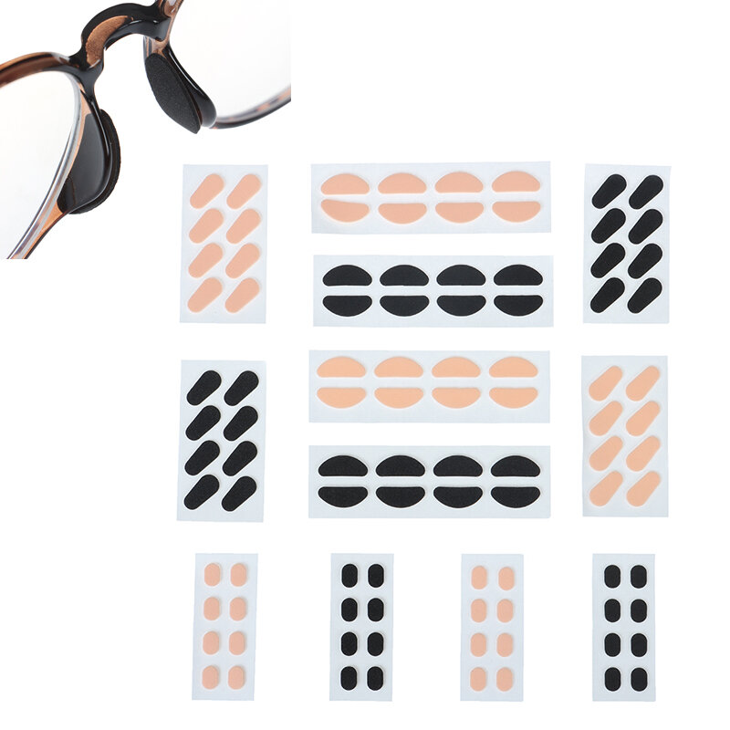 8Pair Soft Foam Nose Pads Self Adhesive Eyeglass Nose Pads Unisex Anti-Slip Eyeglass Nose Pads Thin Nosepads For Glasses