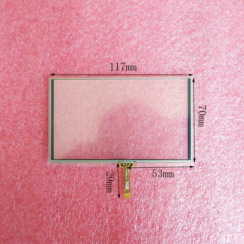 جديد 5 بوصة 4 سلك مقاوم شاشة تعمل باللمس لوحة محول الأرقام ل HN-P050-14 117*70 مللي متر