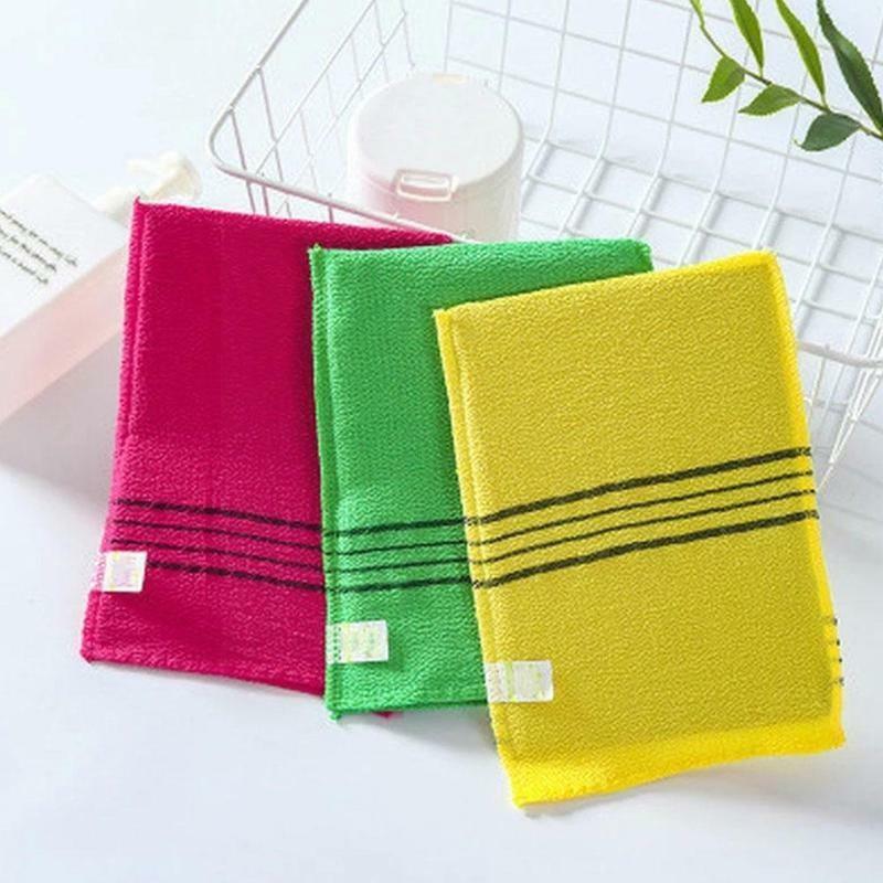 1 قطعة منشفة التقشير الكورية الوجهين سنفرة للجسم تقشير المحمولة دش حمام لوازم الكبار قفاز لون عشوائي T Q8s2
