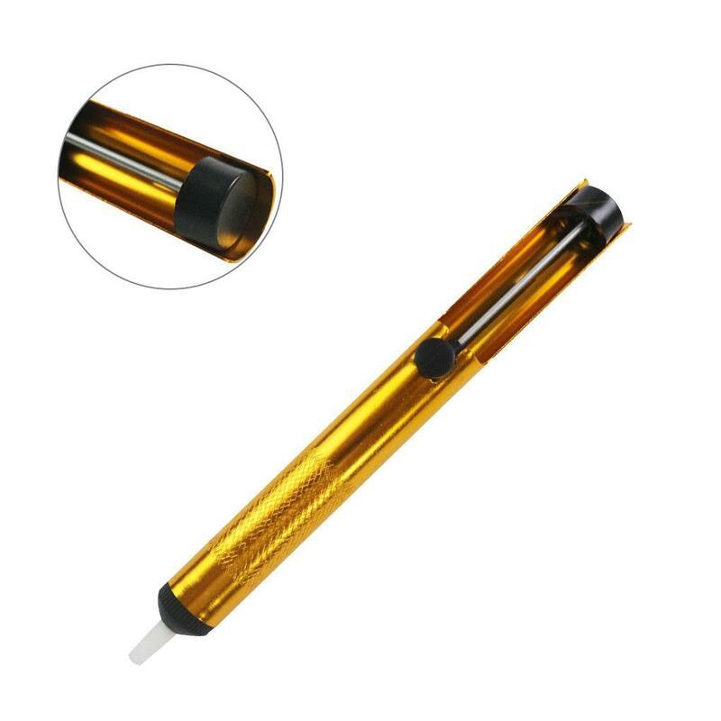 2 قطعة سبائك الألومنيوم الكل القصدير جهاز شفط ، الذهبي القصدير مضخة شفط ، القصدير شفط عصا ، جميع الألومنيوم القصدير شفط بندقية