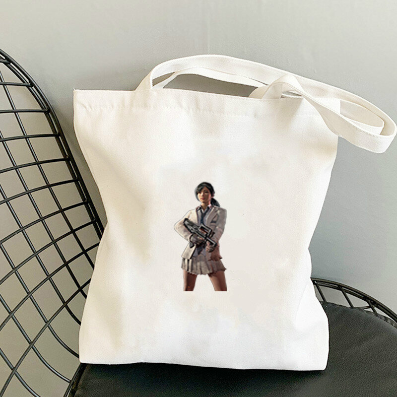 حقيبة PlayerUnknown's Battlegrounds Lgbt للصيف على الشاطئ 2021 للنساء المتسوقين حقيبة يد نسائية كبيرة بمقبض للبحر تصميم كبير