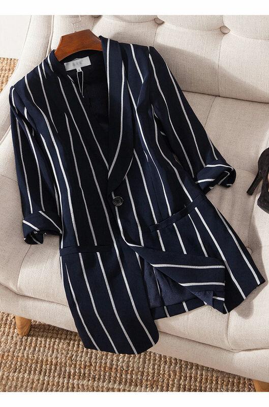 بلازير حريمي مقاس كبير 5XL للربيع والصيف معطف علوي فضفاض بدلة حريمي سوداء ملابس