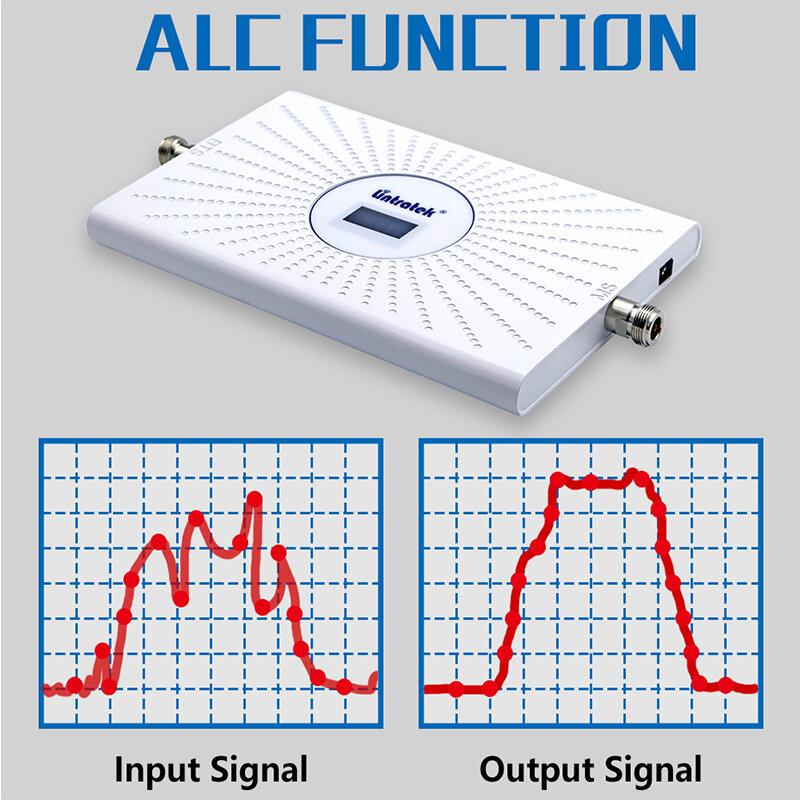 Lintratek AGC 2G 3G 4G ثلاثي الموجات الخلوية مكبر للصوت 800 900 700 B20 B28 1800 GSM قطعة CDMA إشارة الداعم هاتف محمول مكرر عدة
