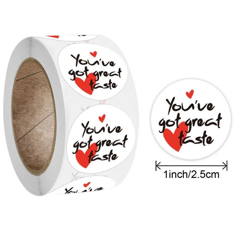 500 قطعة/لفة شكرا لك الحب ملصقات تصميم أكياس الحلوى كعكة ختم تسميات يونيكورن حفلة عيد ميلاد سكرابوكينغ ملصقات حقائب للهدايا