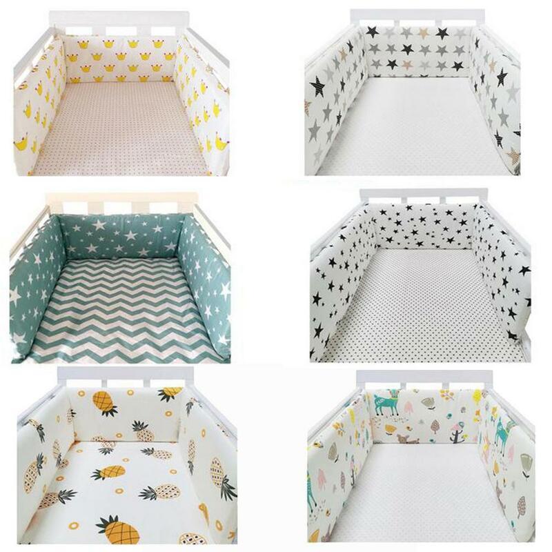 سرير الطفل الوفير القطن رشاقته قطعة واحدة سرير حول وسادة المهد حامي الوسائد حديثي الولادة غرفة الفراش ديكور