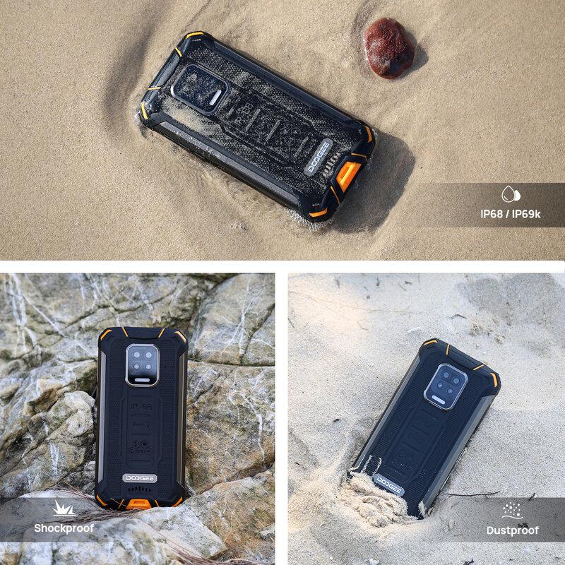 DOOGEE S59 Pro هاتف ذكي 10050mAh بطارية فائقة IP68/IP69K 4 + 128GB NFC هاتف ذكي قوي 2 واط صوت عال سماعات الهاتف الخلوي