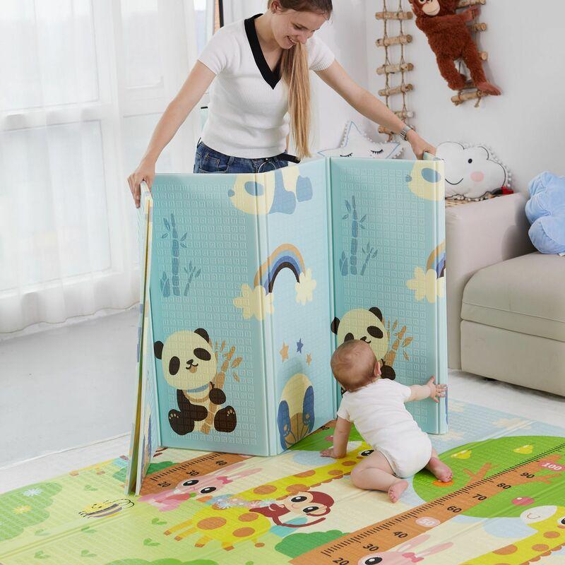 سجادة غرفة الطفل قابلة للطي سجادة لعب للأطفال سجادة زحف للأطفال ديكور غرفة كرتونية ناعمة سجادة حضانة من الفوم XPE سجادة تعليمية