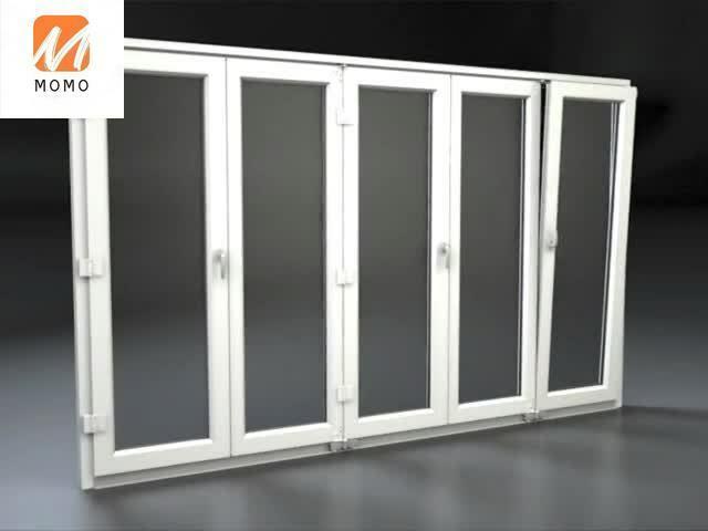 نافذة علوية مخصصة الألومنيوم انزلاق باب قابل للطي باب زجاج خارجي للأبواب باب التراص