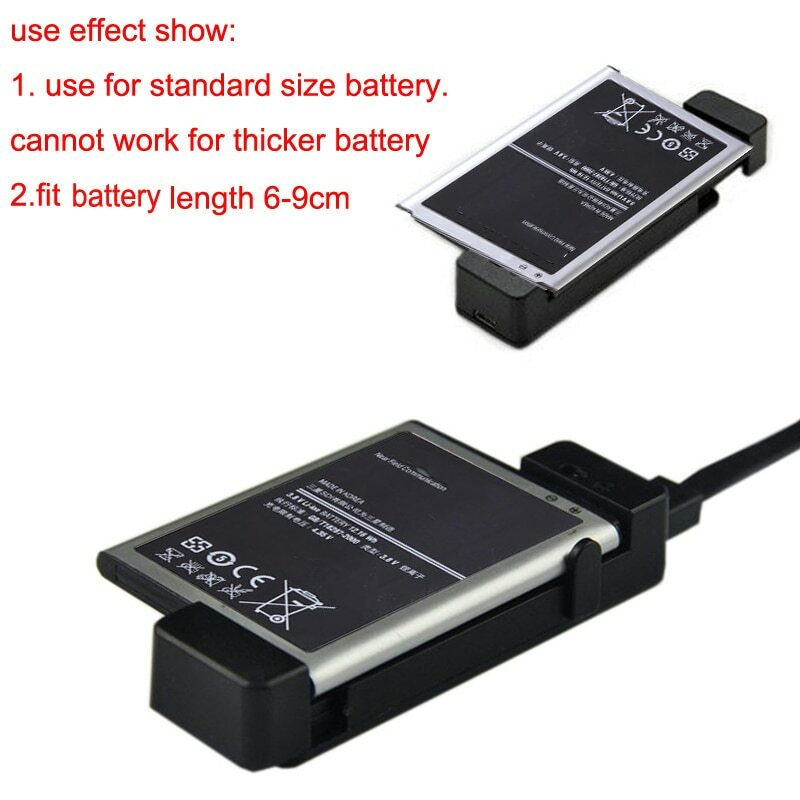 عالمي صغير USB الهاتف المحمول شاحن بطارية إضافية شحن حوض مهد لسامسونج s3 s4 Mini S5 ل شاومي ل LG بطارية
