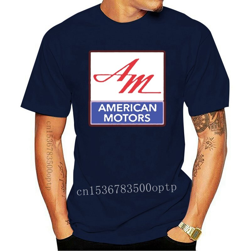 جديد 2021 أسود الأمريكية موتورز Amc شعار سيارة تي شيرت #2 نمط مستديرة تي شيرت