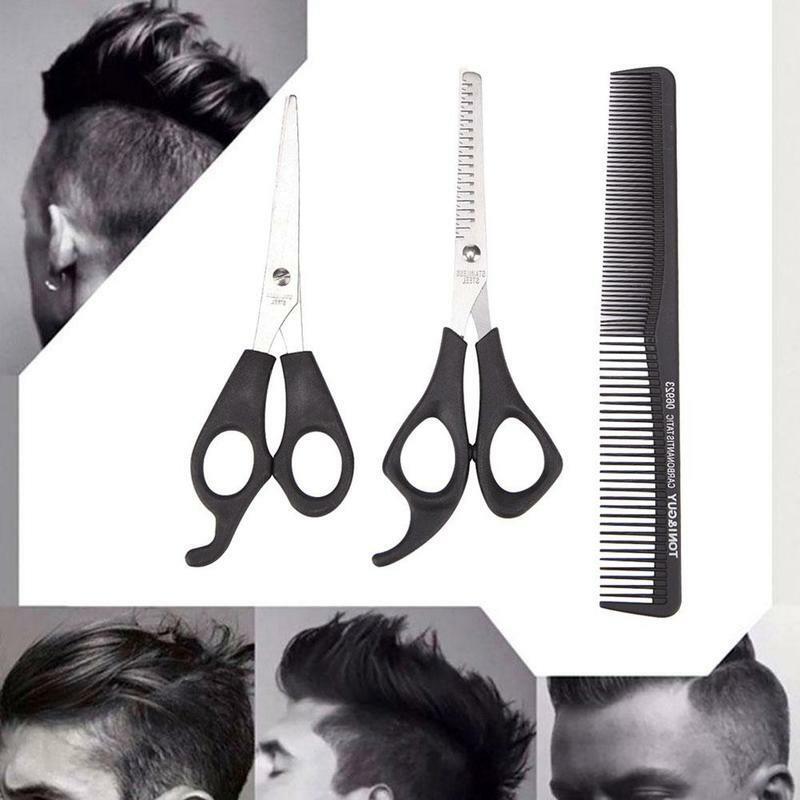 3 قطعة/المجموعة الشعر التصميم أدوات قطع مقص التخفيف الحلاق تصفيف الشعر صالون للشعر مشط مقص Y2B7