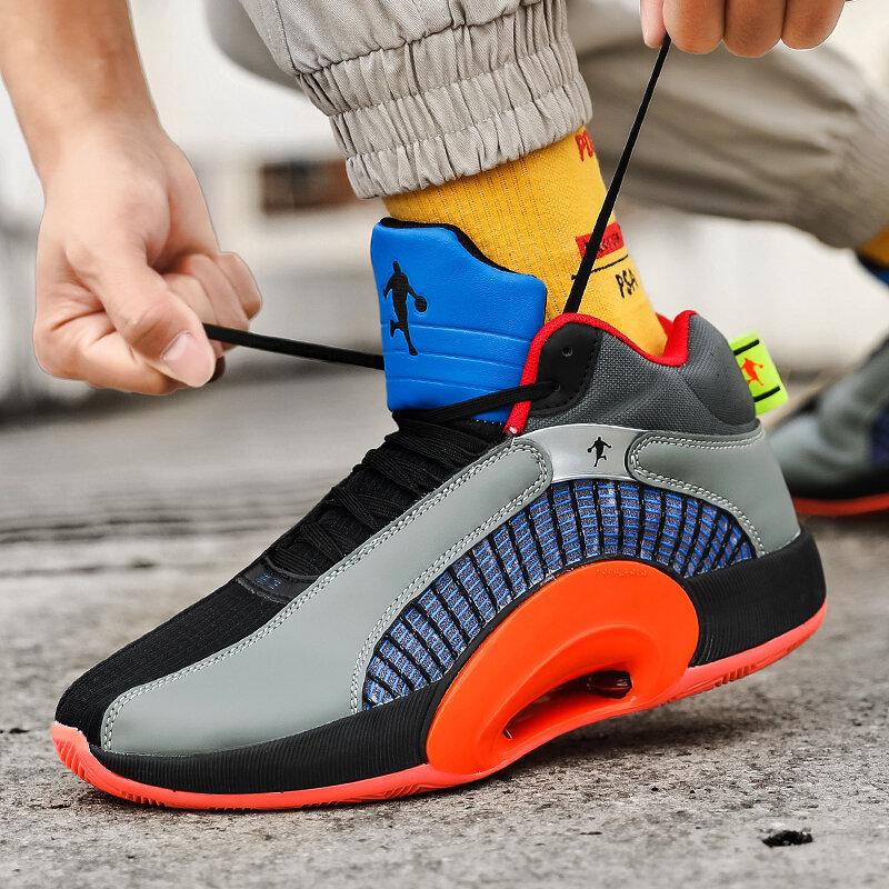 جديد كرة سلة للشباب أحذية الرجال وسادة هوائية خففت المضادة للانزلاق احذية الجري طالب تنفس الفعلية القتالية أحذية رياضية