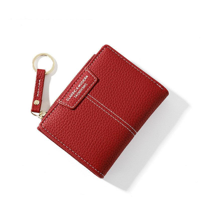 المرأة المحفظة الصغيرة لطيف محفظة المرأة قصيرة بولي Leather جلد النساء محافظ سستة المحافظ portfeuille الإناث محفظة مخلب