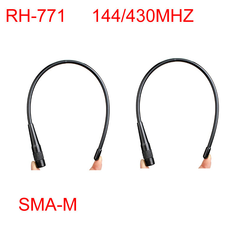 RH-771 SMA-M ذكر ثنائي النطاق لينة 144/430MHz هوائي ل Baofeng Yaesu TYT TH-UV8000D/E Wouxun KG-UV8D/9D اسلكية تخاطب