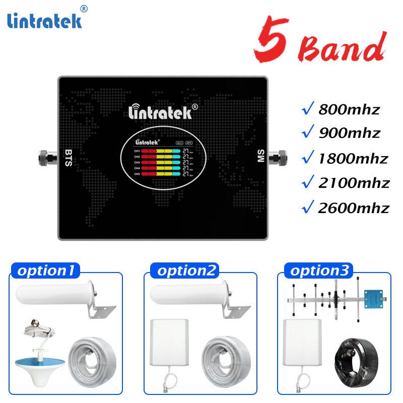 مكبر صوت خلوي 4G 800 GSM 900 DCS 1800 WCDMA UMTS 2100 LTE 2600mhz 2G 3G 4G مكرر إشارة الهاتف المحمول الداعم # Lintratek