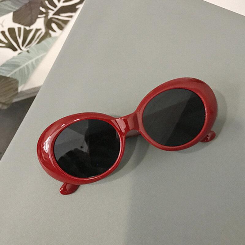 نظارات ريترو كلاوت نظارات ريترو صغيرة البيضاوي النظارات الشمسية الأبيض البيضاوي جريئة وزارة الدفاع إطار سميك مكبرة النساء نظارات خمر