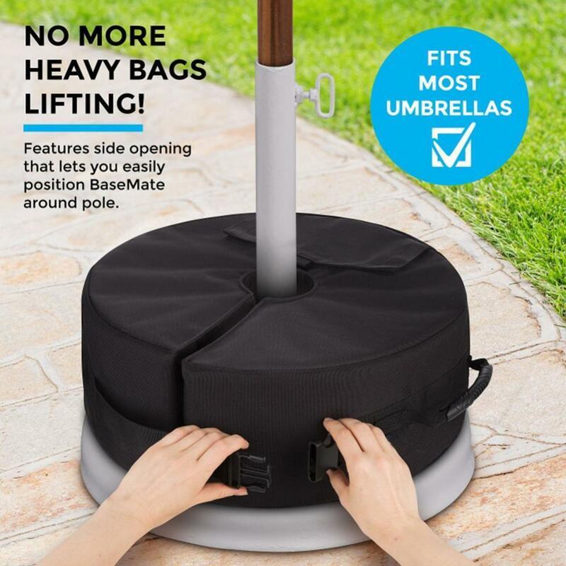 تخفيضات 35% رائعة! 46 سنتيمتر حديقة فناء ساحة حامل مظلة حقيبة الوزن خيمة مظلة المظلة قاعدة حامل