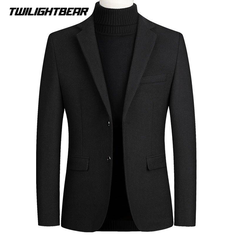 الصوف بليزر ضئيلة الذكور دعوى سترة المعتاد الأعمال الصلبة عادية السترة الشتاء سترة ملابس للرجال ملابس خارجية معطف 4XL BFJ002