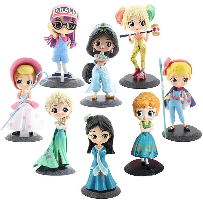 Q Posket-شخصيات أميرة ديزني ، 41 نموذجًا مختلفًا ، شخصيات كرتونية ، شخصيات إلسا وآنا ، هارلي مولا ، ألعاب قابلة للتحصيل ، هدايا للأطفال