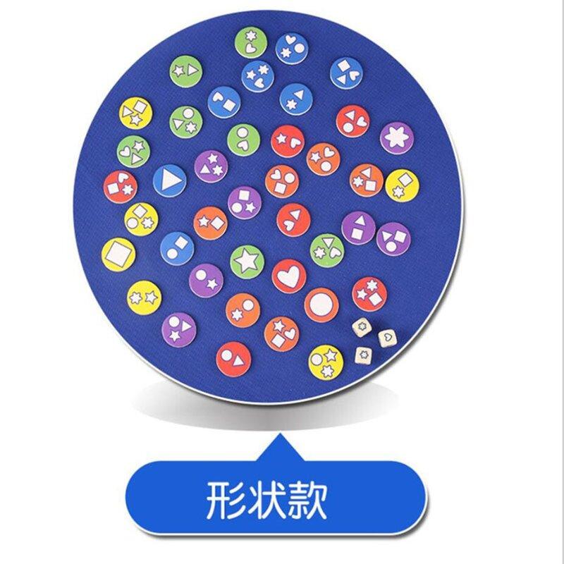 أحجية خشبية للتدريب على شكل حلوى للأطفال ، لعبة لوحية ، شطرنج ، ذاكرة ، لعبة مطابقة ، لعبة تعليمية وتعليمية