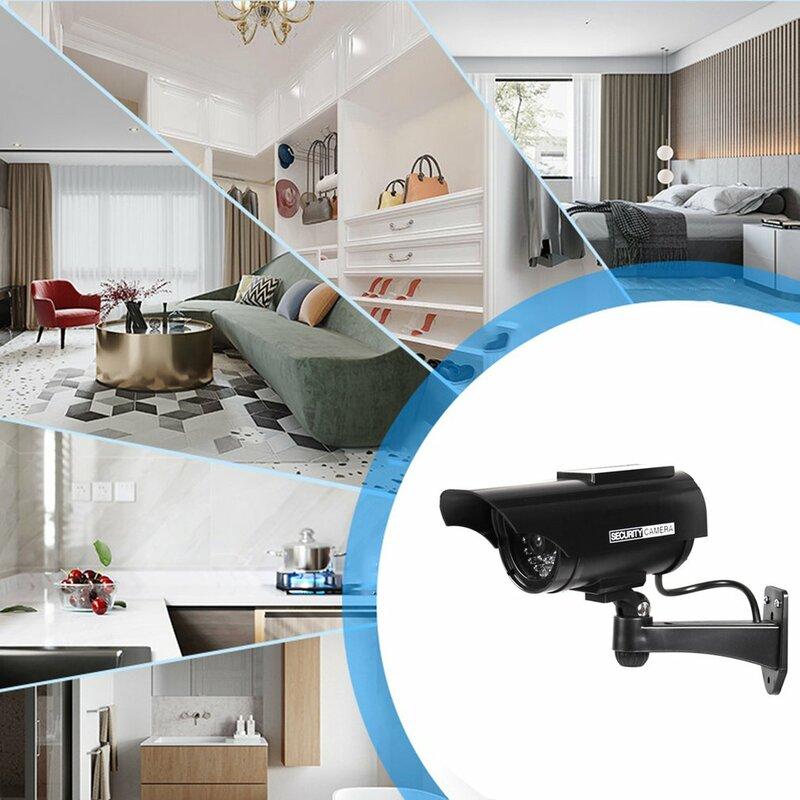 CCTV YZ-3302 تعمل بالطاقة الشمسية الأمن مراقبة كاميرا محاكاة مقاومة للماء وامض ضوء ليد أحمر كاميرا فيديو مكافحة سرقة
