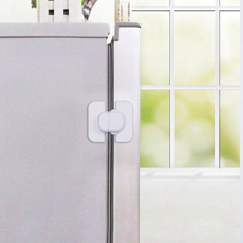 1 قطعة المنزل الثلاجة قفل الثلاجة الفريزر الباب الصيد قفل طفل أطفال الطفل خزانة قفل أمان للطفل سلامة قفل أمان للأطفال