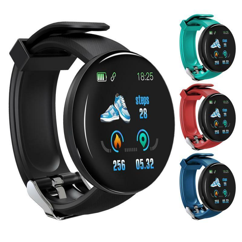 D18S ساعة ذكية شاشة ملونة سوار لياقة بدنية ضغط مراقب معدل ضربات القلب موضة الرياضة Smartwatch النساء الرجال