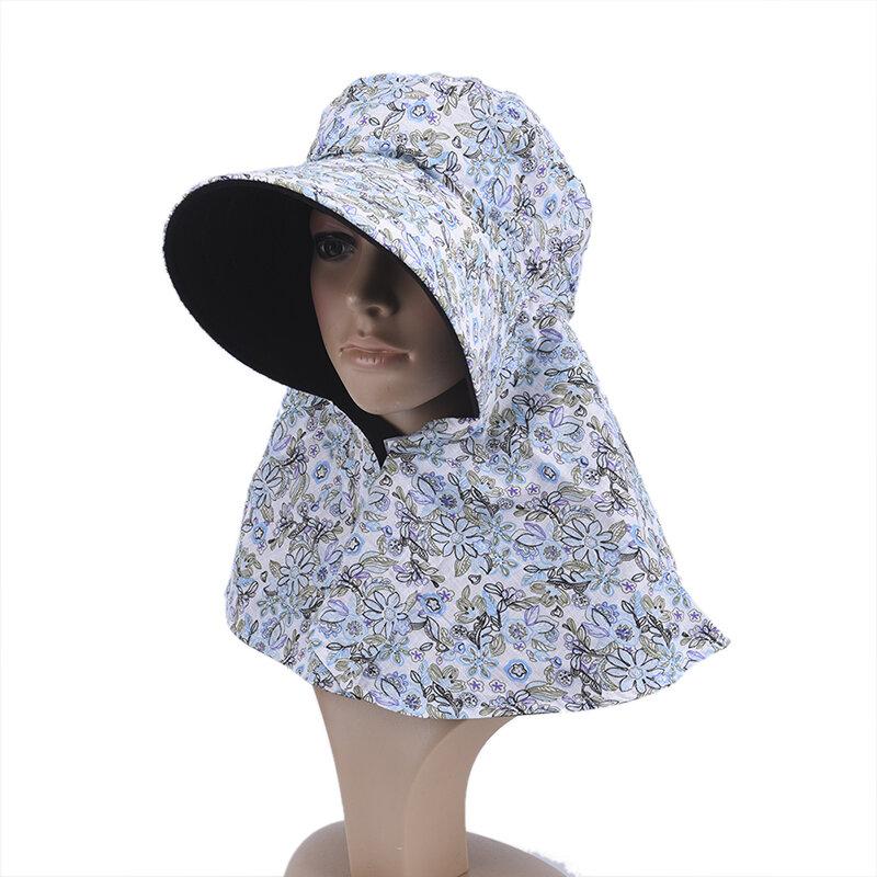 1 قطعة سيدة الصيف النساء قبعة في الهواء الطلق الأشعة فوق البنفسجية حماية الوجه طوي قبعة الشمس