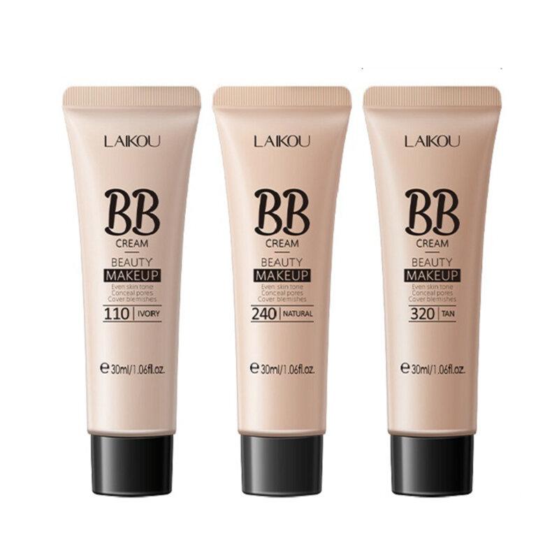 30 جرام BB كريم ترطيب ترطيب المخفي سطع الأساس السائل التغطية الكاملة تجميل ضد الماء الجمال مستحضرات التجميل TSLM1
