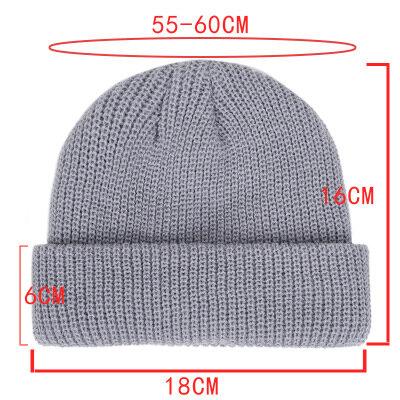 قبعات منسوجة للنساء Skullcap الرجال قبعة صغيرة الشتاء الرجعية Brimless فضفاض البطيخ قبعة الكفة دوكر صياد قبعة حريمي للرجال