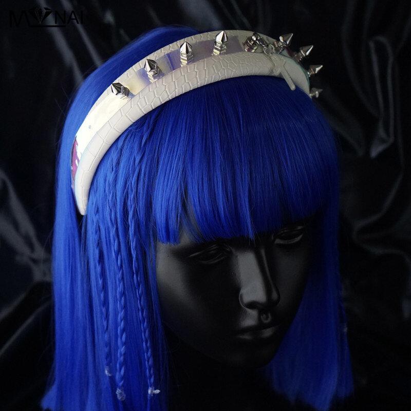 تأثيري عصابات رأس فاسق هالوين الدعامة امرأة موضة برشام فو الجلود الشعر هوب ازياء حفلة إكسسوارات الشعر